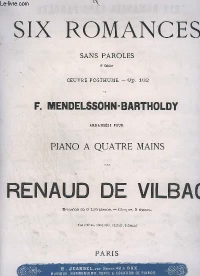 6 ROMANCES - 8° CAHIER - N°4 : OP.102 POUR PIANO.