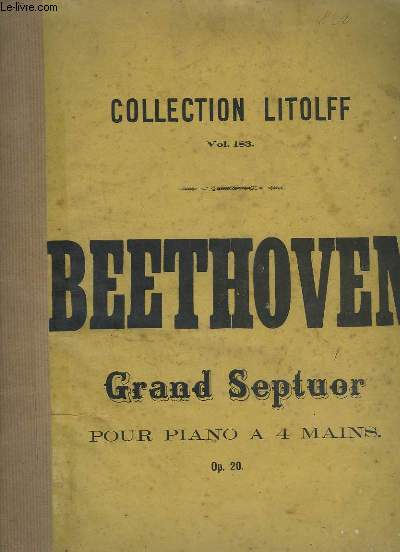 GRAND SEPTUOR POUR PIANO A 4 MAINS - OP.20.VOL.183.
