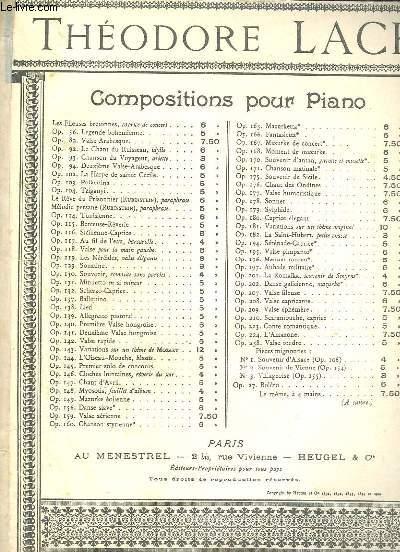 SOUVENIR DE VIENNE - N°2 OP.154 - 2° PETIT LAENDLER - POUR PIANO.