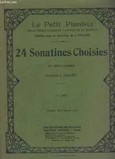 24 SONATINES CHOISIES - EN DEUX LIVRES - LIVRE N°2.