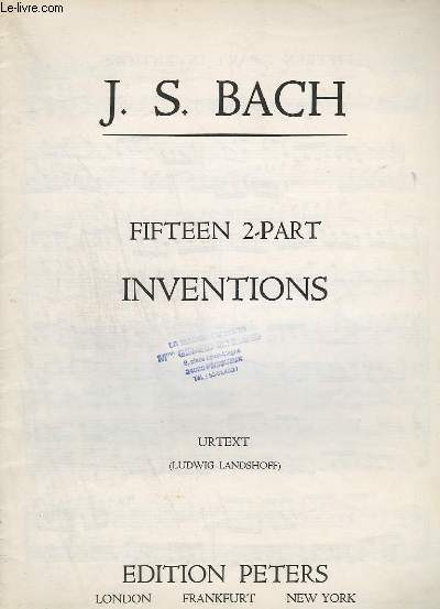 FIFTEEN 2 PART - INVENTIONS - PIANO.