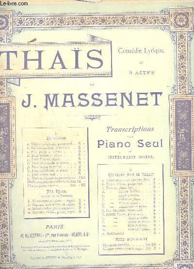 THAIS - MEDITATION DE THAIS - FLUTE + PIANO.