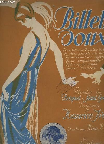 BILLETS DOUX - PIANO + CHANT.
