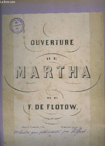 OUVERTURE DE MARTHA - PIANO.