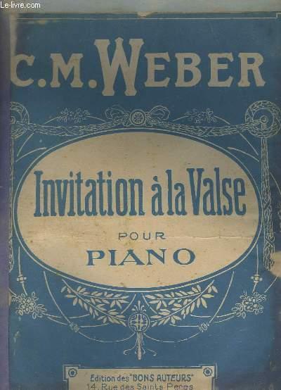 INVITATION A LA VALSE POUR PIANO.