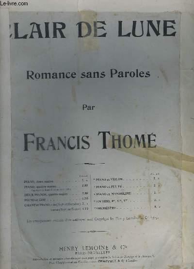 CLAIR DE LUNE - ROMANCE SANS PAROLES