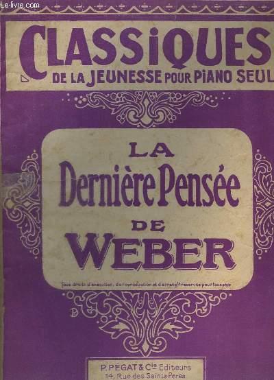 LA DERNIERE PENSEE - PIANO.