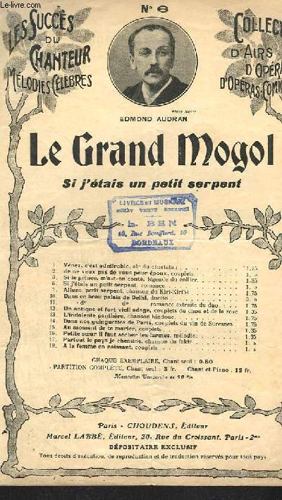 LE GRAND MOGOL - CHANT N°6.