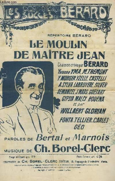 LE MOULIN DE MAITRE JEAN - CHANT.
