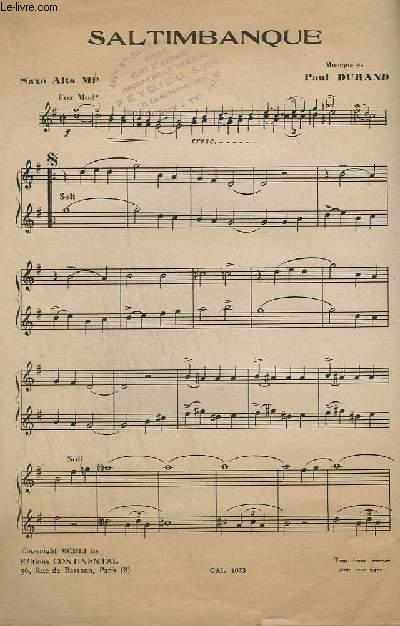 SALTIMBANQUE - TROMPETTE SIB OU CLARINETTE + SAXO TENOR SIB + PIANO CONDUCTEUR + SAXO ALTO MIB + VIOLON / ACCORDEON / GUITARE.