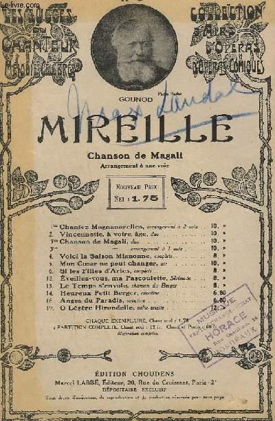 MIREILLE - N°3 TER DE LA COLLECTION D'AIRS D'OPERAS COMIQUES - CHANT.