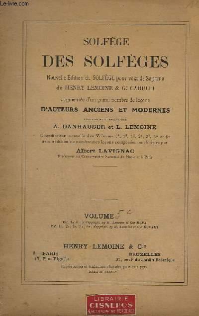 SOLFEGE DES SOLFEGES - VOLUME 5 C.