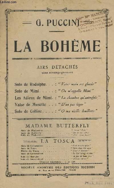 LA BOHEME - SOLO DE COLLINE - CHANT.
