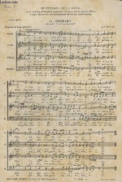 50 CHORALS - N°14 : EPIPHANIE - CHORAL A 4 VOIX MIXTES.
