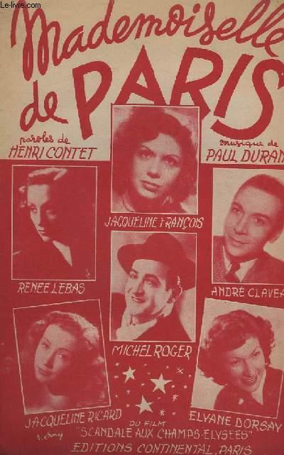 MADEMOISELLE DE PARIS - CHANT.