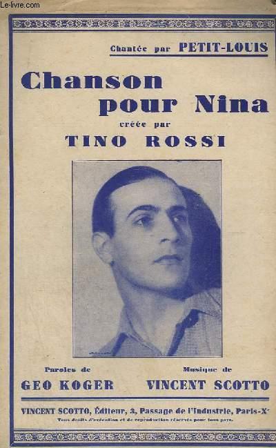 CHANSON POUR NINA - CHANT.