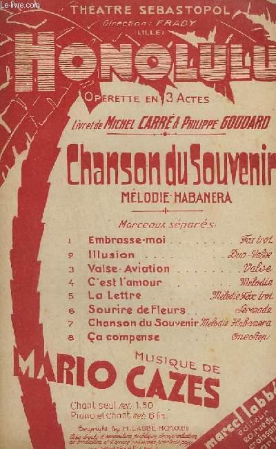 LA CHANSON DU SOUVENIR - HONOLULU CHANT N°7.