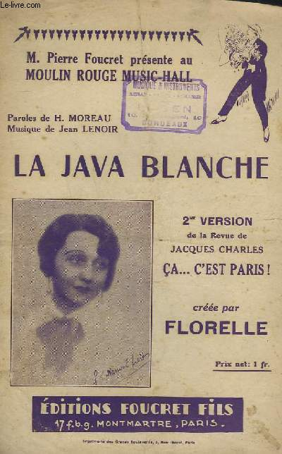 LA JAVA BLANCHE - CHANT.