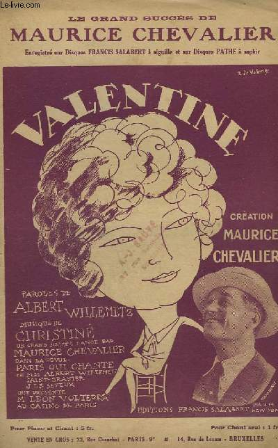 VALENTINE - CHANT.