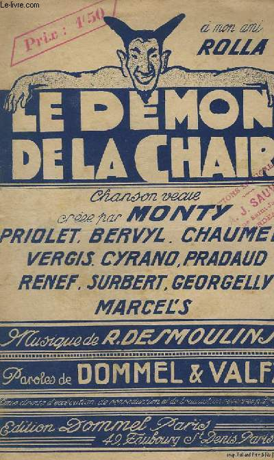 LE DEMON DE LA CHAIR - CHANT.