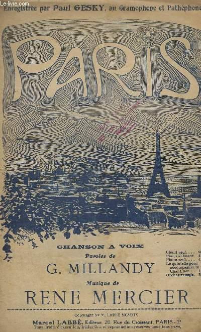 PARIS ! - CHANT.