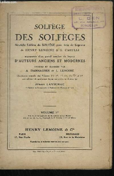 SOLFEGE DES SOLFEGES - VOLUME 5 A.