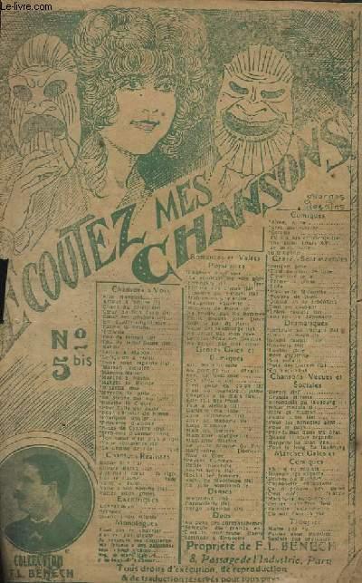 ECOUTEZ MES CHANSONS - N°5 BIS : LE JEUNE HOMME DU PARC MONCEAU + LA JOLIE SOMNANBULE + COEUR DE LILAS - CHANT.