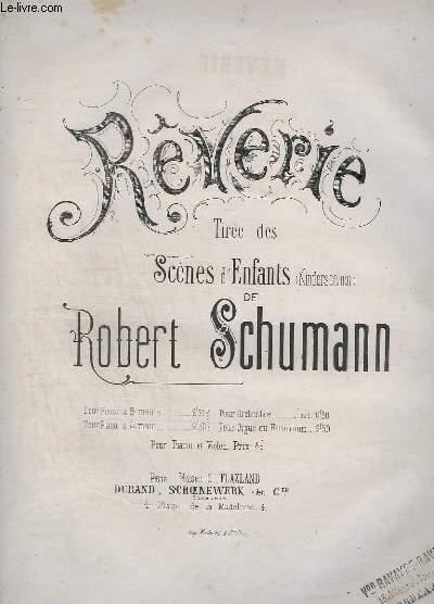 REVERIE - POUR PIANO A 2 MAINS - TIREE DES SCENES D'ENFANTS.