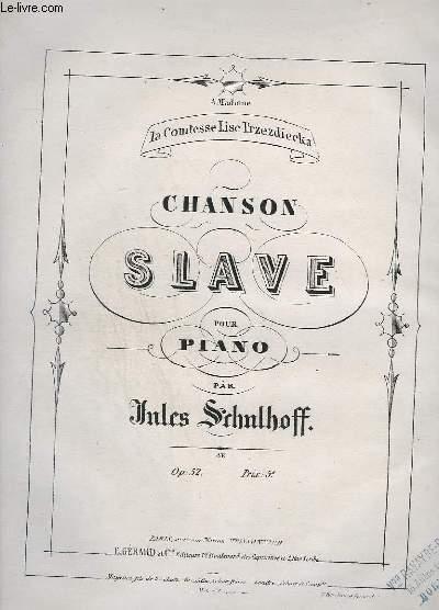 CHANSON SLAVE POUR PIANO.