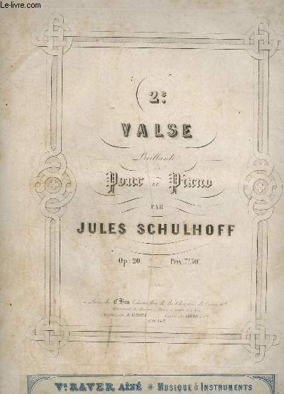 2° VALSE BRILLANTE POUR LE PIANO - OP.20.