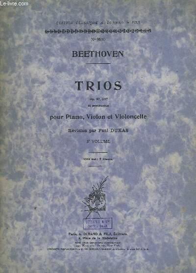 TRIOS POUR PIANO, VIOLON ET VIOLONCELLE - VOLUME 3 - N°9510 - OP.97 + 121-A.