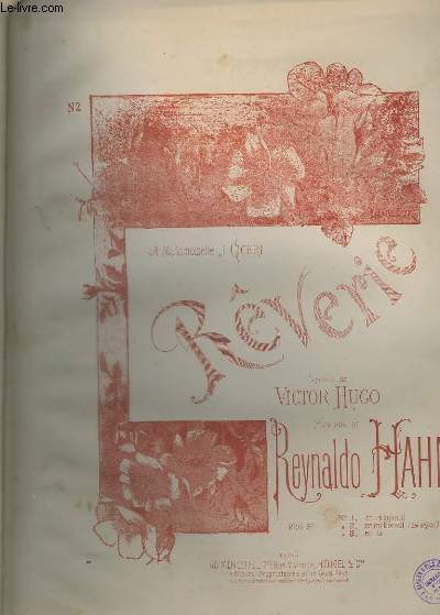 REVERIE N°2 : EN MI BEMOL - TON ORIGINAL - PIANO + CHANT.