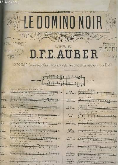LE DOMINO NOIT - N°12 : AIR - PIANO + CHANT - TEXTE ALLEMAND ET FRANCAIS.