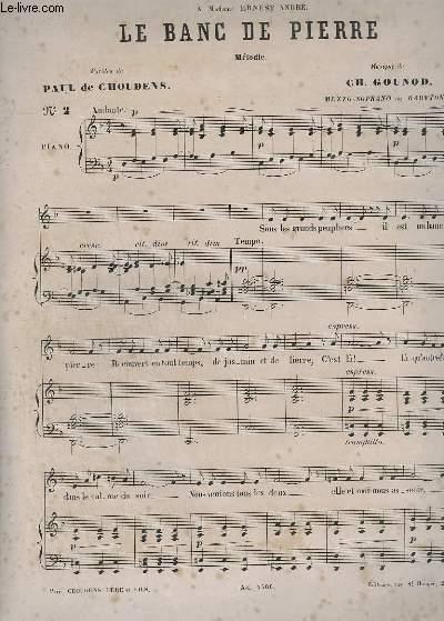 LE BANC DE PIERRE - PIANO + CHANT.