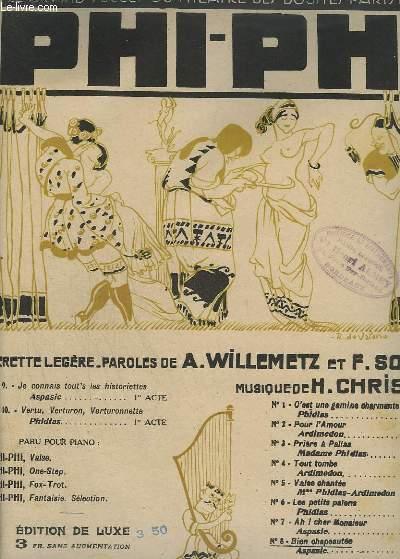 BIEN CHAPEAUTEE - PIANO + CHANT - PHI-PHI N°8.
