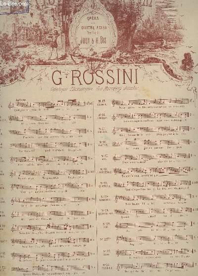 GUILLAUME TELL - N°10 : RECITATIF ET ROMANCE - PIANO.