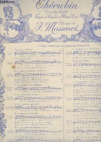 CHERUBIN - N°3 : NOUS N'AURONS PAS D'APOTHEOSE - PIANO + CHANT - SOPRANO.