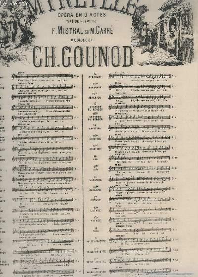 MIREILLE - N°3 : CHANSON DE MAGALI - PIANO + MIREILLE + VINCENT ( CHANT ).