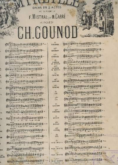 MIREILLE - N°19 : ARIETTE - PIANO + CHANT.