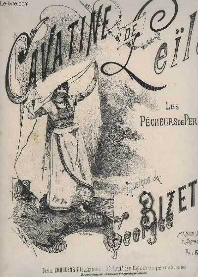 CAVATINE DE LEILA - N°2 : LES PECHEURS DE PERLES - PIANO + CHANT.