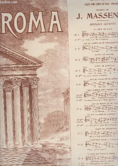 ROMA N°1 : LE REVE DE JUNIA - PIANO + CHANT.