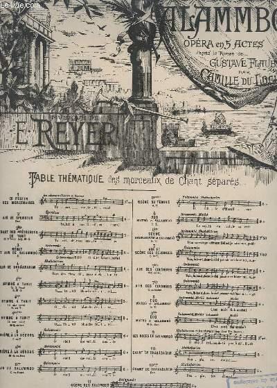 SALAMMBO - N° 7 : SCENE DES COLOMBES - PIANO + CHANT.