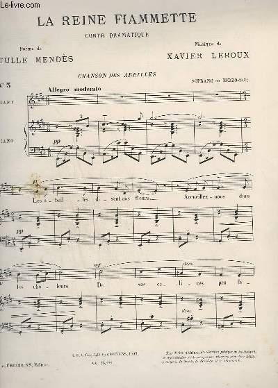 LA REINE FIAMETTE - N°3 : CHANSON DES ABEILLES - PIANO + CHANT.