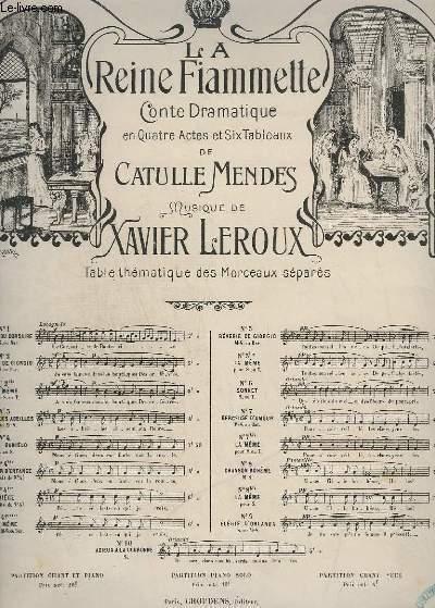 LA REINE FIAMETTE - N° 9 : ELEGIE D'ORLANDA - PIANO + CHANT.