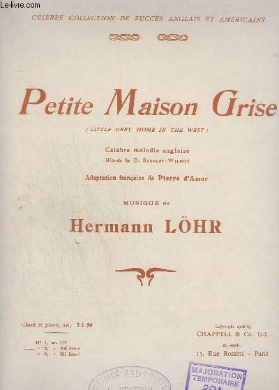 PETITE MAISON GRISE / LITTLE GREY HOME IN THE WEST - PIANO + CHANT.