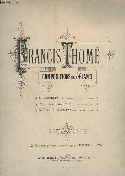 COMPOSITIONS POUR PIANO - OP.51 : BADINAGE.