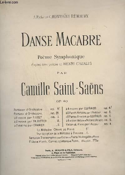 DANSE MACABRE - POUR PIANO - OP.40.