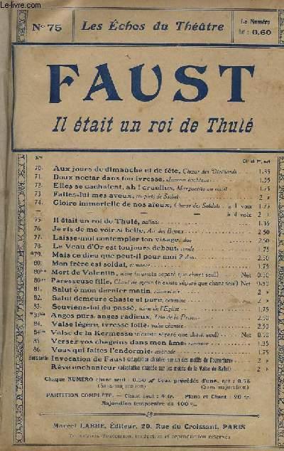 FAUST - N°75 : BALLADE DU ROI DE THULE - CHANT.