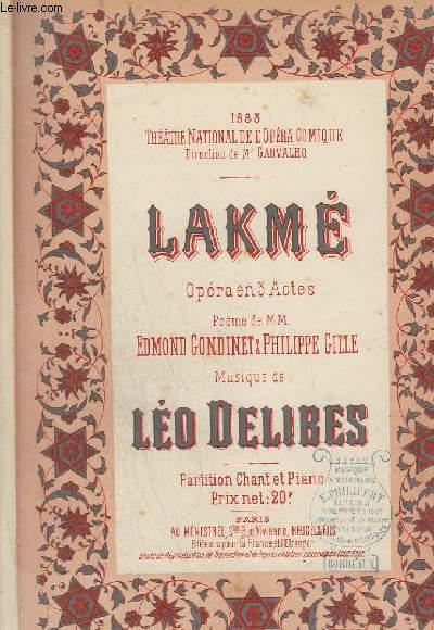 LAKME - OPERA EN 3 ACTES - PIANO + CHANT.