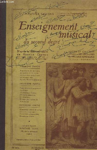 ENSEIGNEMENT MUSICAL DU SECOND DEGRE.